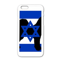 Cannan Dog Silhouette Flag Of Israel Apple iPhone 6/6S White Enamel Case