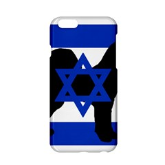 Cannan Dog Silhouette Flag Of Israel Apple iPhone 6/6S Hardshell Case