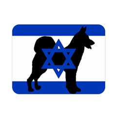 Cannan Dog Silhouette Flag Of Israel Double Sided Flano Blanket (Mini)