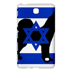 Cannan Dog Silhouette Flag Of Israel Samsung Galaxy Tab 4 (8 ) Hardshell Case