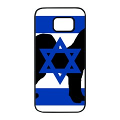 Cannan Dog Silhouette Flag Of Israel Samsung Galaxy S7 edge Black Seamless Case