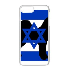 Cannan Dog Silhouette Flag Of Israel Apple iPhone 7 Plus White Seamless Case