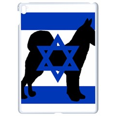 Cannan Dog Silhouette Flag Of Israel Apple iPad Pro 9.7   White Seamless Case