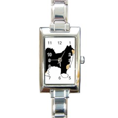Finnish Lap Silo Color Rectangle Italian Charm Watch