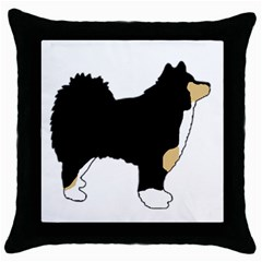 Finnish Lap Silo Color Throw Pillow Case (Black)