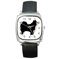 Finnish Lap Silo Color Square Metal Watch