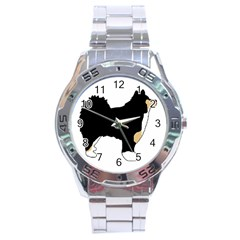 Finnish Lap Silo Color Stainless Steel Analogue Watch
