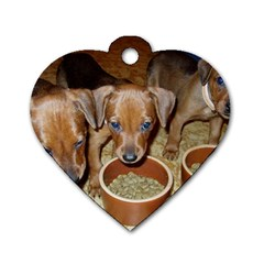German Pinscher Puppies Dog Tag Heart (One Side)