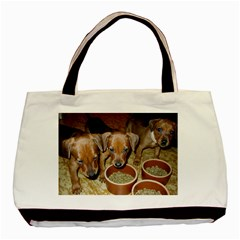 German Pinscher Puppies Basic Tote Bag (Two Sides)