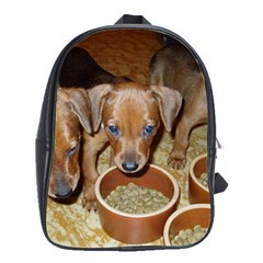 German Pinscher Puppies School Bags(Large)