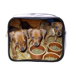 German Pinscher Puppies Mini Toiletries Bags