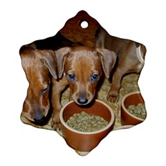 German Pinscher Puppies Ornament (Snowflake)