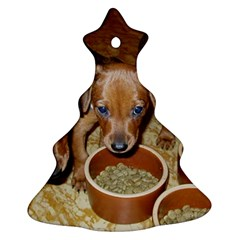 German Pinscher Puppies Christmas Tree Ornament (Two Sides)