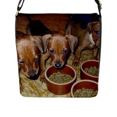 German Pinscher Puppies Flap Messenger Bag (L)