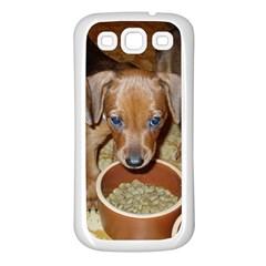 German Pinscher Puppies Samsung Galaxy S3 Back Case (White)