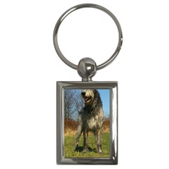 Irish Wolfhound full Key Chains (Rectangle)