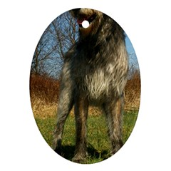 Irish Wolfhound full Oval Ornament (Two Sides)