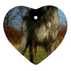 Irish Wolfhound full Heart Ornament (Two Sides)