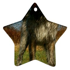 Irish Wolfhound full Star Ornament (Two Sides)