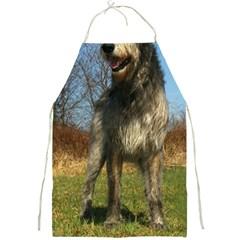 Irish Wolfhound full Full Print Aprons