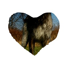 Irish Wolfhound full Standard 16  Premium Heart Shape Cushions