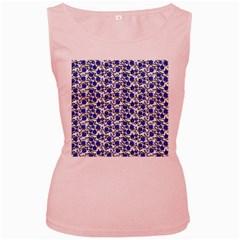 Roses pattern Women s Pink Tank Top