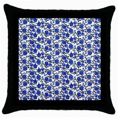 Roses pattern Throw Pillow Case (Black)