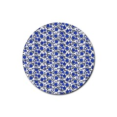 Roses pattern Rubber Coaster (Round)