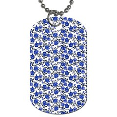 Roses pattern Dog Tag (One Side)