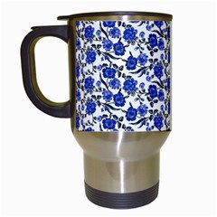 Roses pattern Travel Mugs (White)