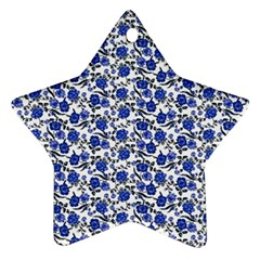 Roses pattern Star Ornament (Two Sides)