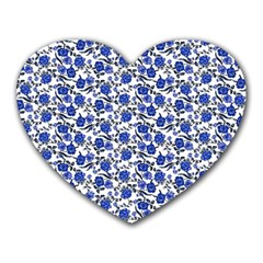 Roses pattern Heart Mousepads