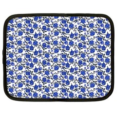 Roses pattern Netbook Case (Large)