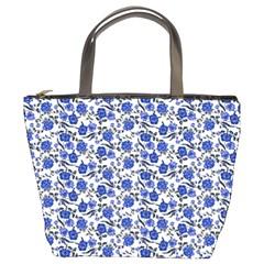 Roses pattern Bucket Bags