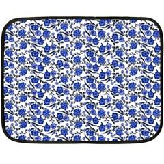 Roses pattern Double Sided Fleece Blanket (Mini)