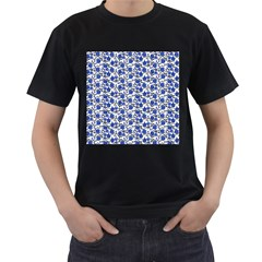 Roses pattern Men s T-Shirt (Black)