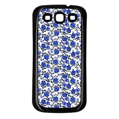 Roses pattern Samsung Galaxy S3 Back Case (Black)
