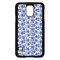 Roses pattern Samsung Galaxy S5 Case (Black)