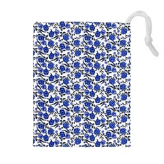 Roses pattern Drawstring Pouches (Extra Large)