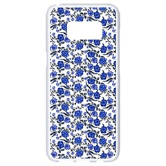 Roses pattern Samsung Galaxy S8 White Seamless Case