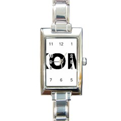 I Love My Komondor Rectangle Italian Charm Watch