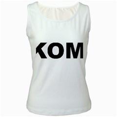I Love My Komondor Women s White Tank Top