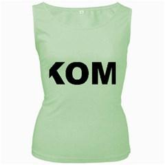I Love My Komondor Women s Green Tank Top