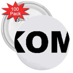 I Love My Komondor 3  Buttons (100 pack)