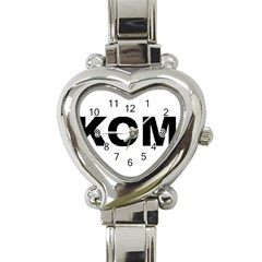 I Love My Komondor Heart Italian Charm Watch