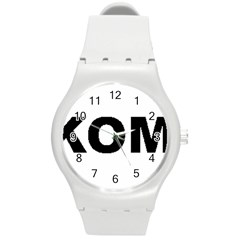 I Love My Komondor Round Plastic Sport Watch (M)