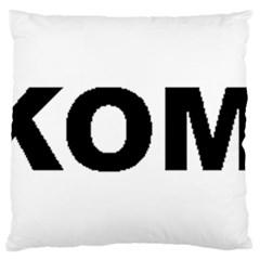 I Love My Komondor Large Flano Cushion Case (Two Sides)