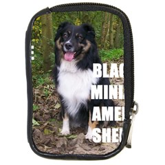 Mini Australian Shepherd Black Tri Love W Pic Compact Camera Cases