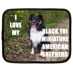 Mini Australian Shepherd Black Tri Love W Pic Netbook Case (XL)