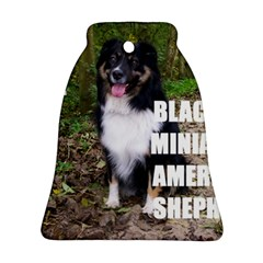 Mini Australian Shepherd Black Tri Love W Pic Ornament (Bell)